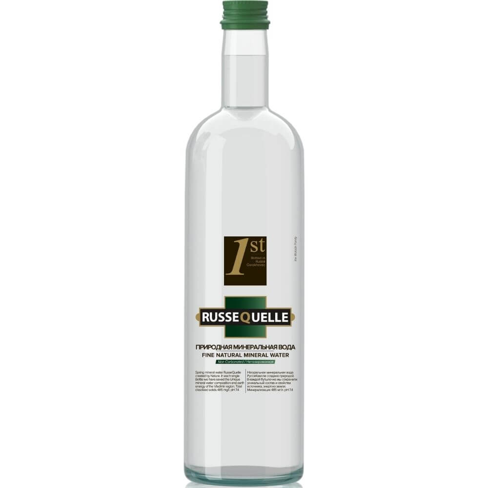 Spring mineral water RusseQuelle (still, glass, 750 ml)