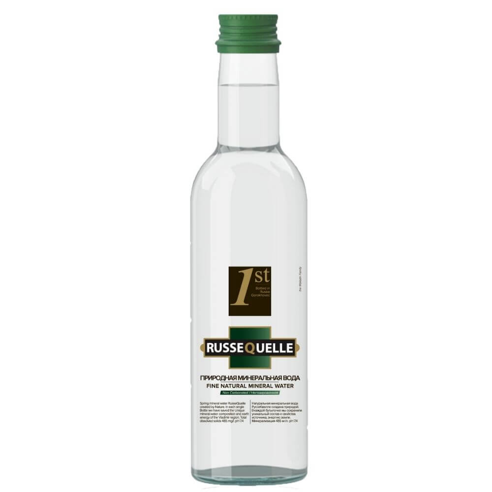 Spring mineral water RusseQuelle (still, glass, 250 ml)