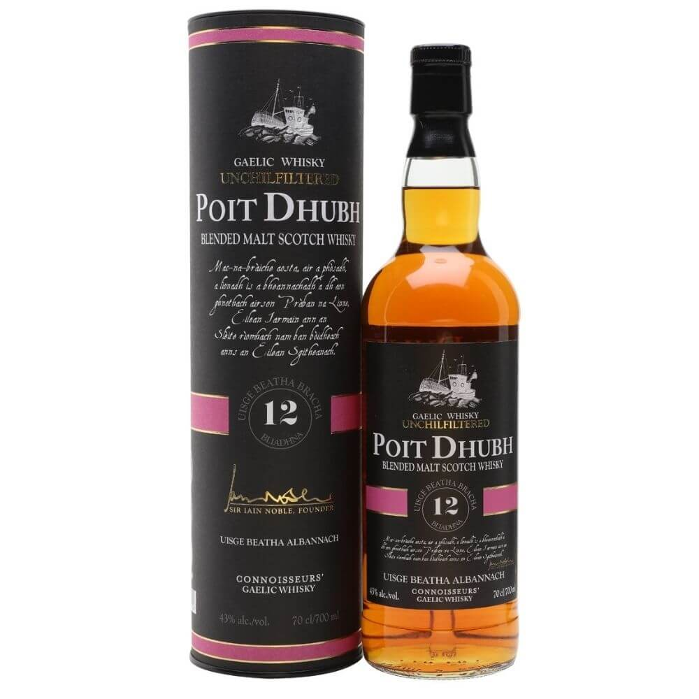 Виски Poit Dhubh 12 Years Old Blended Malt Scotch (gift box)